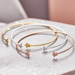 Open Cuff Shooting Star Bangle - bracelets & bangles