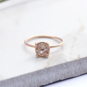 Edita 9ct Rose Gold Rutilated Quartz - unique engagement rings