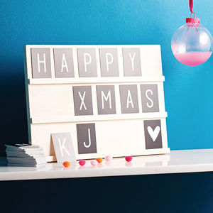 Wooden Text Board With Changable Letters And Symbols - gifts for children