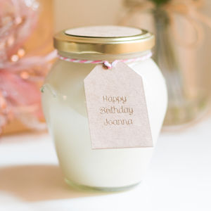 Handcrafted Happy Birthday Personalised Soy Candle Jar