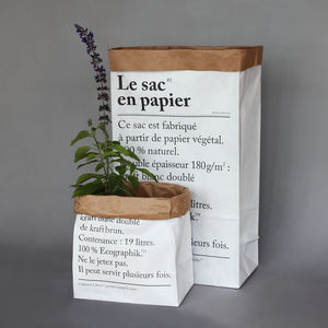 Le Sac En Papier Or The Paper Bag - storage & organisers