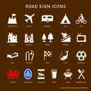 Personalised Metal Road Sign With Icon