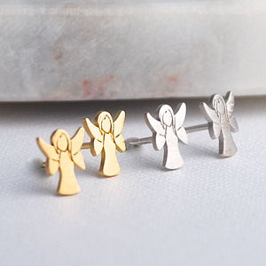 Guardian Angel Earrings - children's jewellery