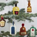 Bottle Of Christmas Spirit Tree Decoration