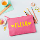 Girls Personalised Large Pencil Case