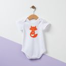 Personalised Fox Baby Grow
