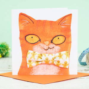 Cat Bowtie And Christmas Card Gift Set - cards