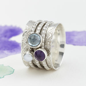 Mystical Treasure Spinning Ring - birthstone jewellery gifts