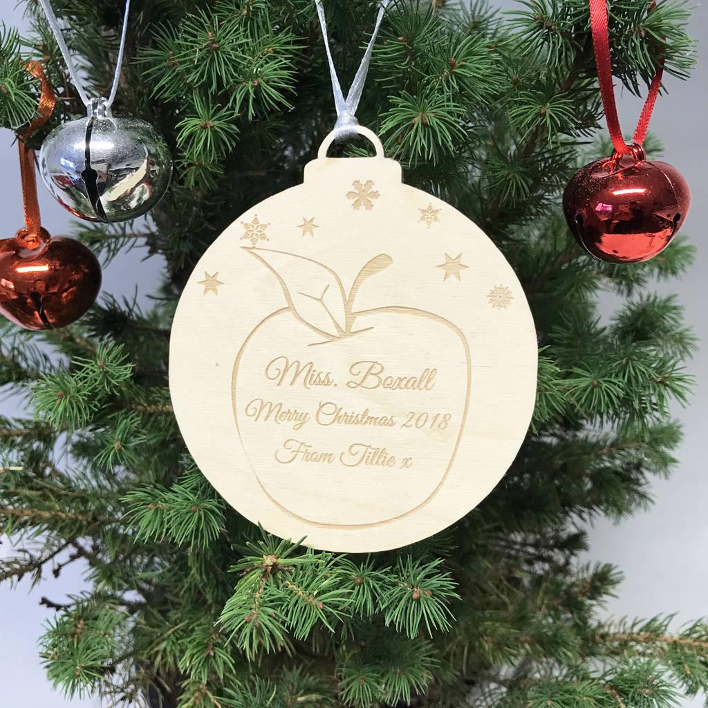 Teacher Christmas Gifts.Personalised Teacher Christmas Gift