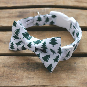 Christmas Tree Dog Collar Bowtie - gifts for your pet