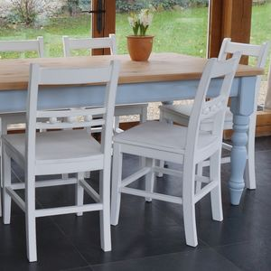 Chilmark Table With Ball Back Chairs Hand Painted - dining tables