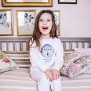 Personalised Sleepy Moon Children's Pyjamas