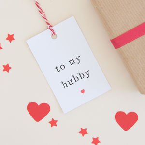'To My Hubby Or Wifey' Gift Tag - gift tags & labels