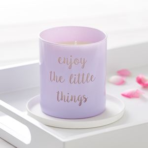 Life Quote Candle - home