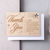 Personalised 'Thank You' Wooden Post Card - cards