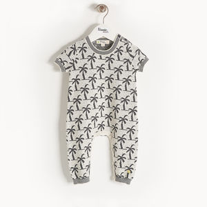 Moloko Organic Cotton Palm Tree Baby Playsuit