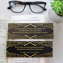 The Great Gatsby Bookmark First And Last Line