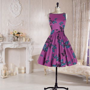 Purple Butterfly Tea Dress - dresses