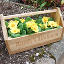 Personalised Allotment Flower Crate Box