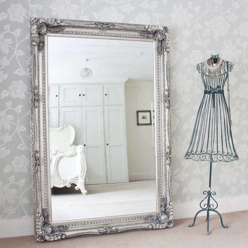 Grand Silver Or Gold Full Length Dressing Mirror By