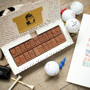 Chocolate Message For Dad - gifts for fathers