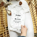 Our First Father's Day 2021, Personalised Babygrow