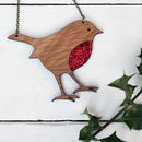 Wooden Robin Necklace