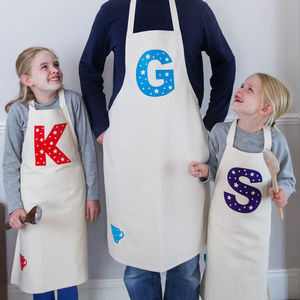 Personalised Apron Parent And Child Set