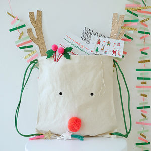 Reindeer Back Pack Stocking - christmas sale