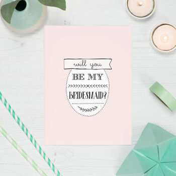 Will You Be My Bridesmaid Five Card Pack