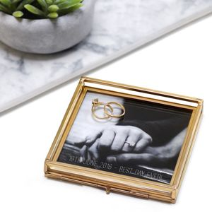Personalised Glass Square Photo Tray