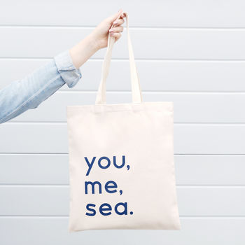 'You, Me, Sea' Tote Bag