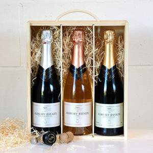 English Sparkling Wine Gift Box With Tasting Notes - artisan alcohol