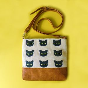 Nine Lives Over Shoulder Bag - sale