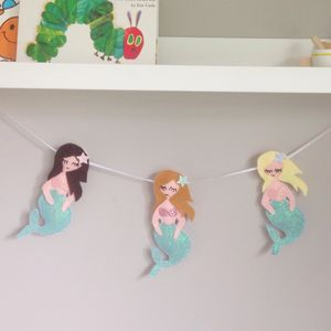 Felt Mermaid Garland - bunting & garlands