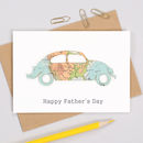 Personalised Fathers Day Map Beetle Car Card