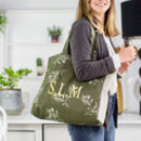 Personalised Olive Leaf Shopper