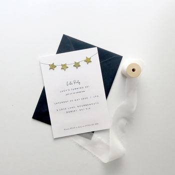 Little Star Party Invitations