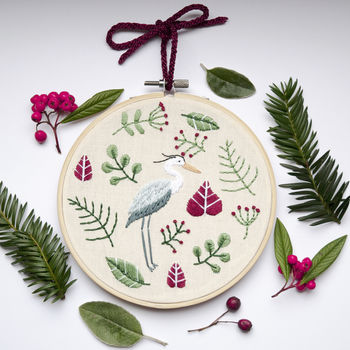 Beginner Embroidery 'Magical Heron' D.I.Y Kit