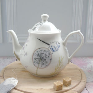 Dandelion And Birds Four Cup China Teapot