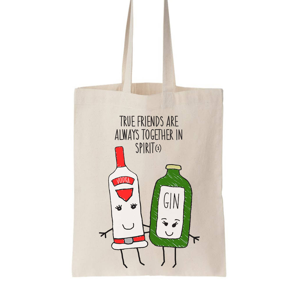 a1ebab50a together in spirits' friendship tote bag by of life & lemons ...
