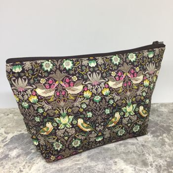 Liberty Print Strawberry Thief Wash Bag/Make Up Bag/Set