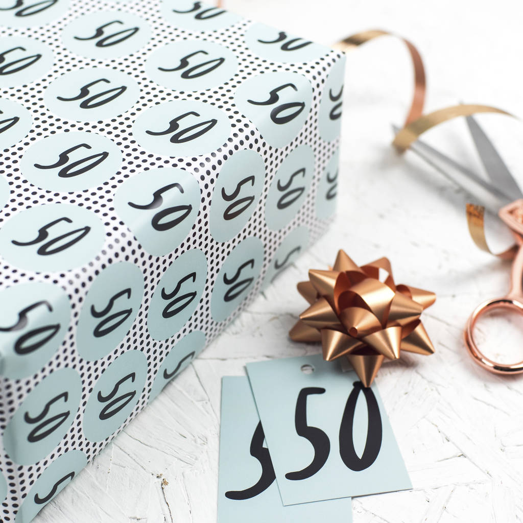 50th Birthday Wrapping Paper