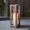 Wooden Candle Lantern With Rope Handle