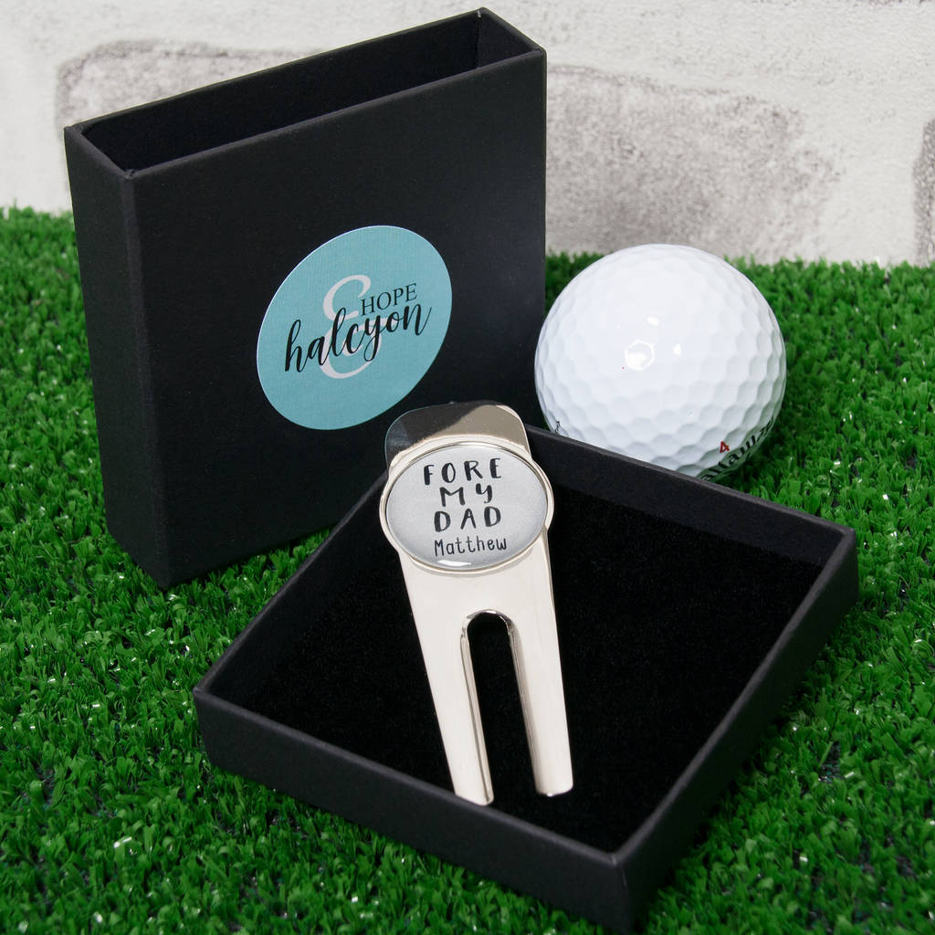 Personalised 'Fore My Dad' Golf Divot Tool