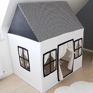 Cotton Play House Black And White - tents, dens & teepees