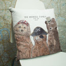 Personalised Bear Family Cushion