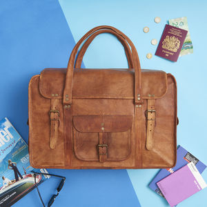 Leather Weekend Bag - gifts for him