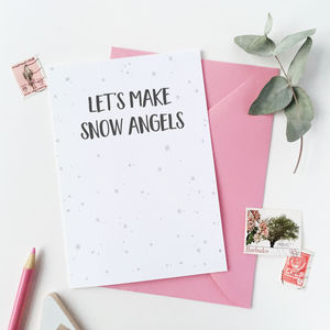 Let's Make Snow Angels Card