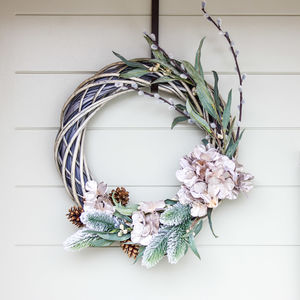 The Gold Pussy Willow Christmas Wreath - wreaths